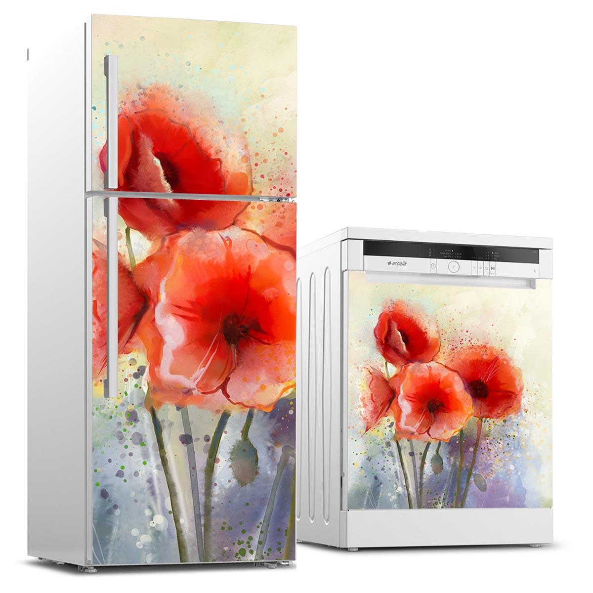 Buzdolabı ve Bulaşık Makinesi Kapak Stickerları