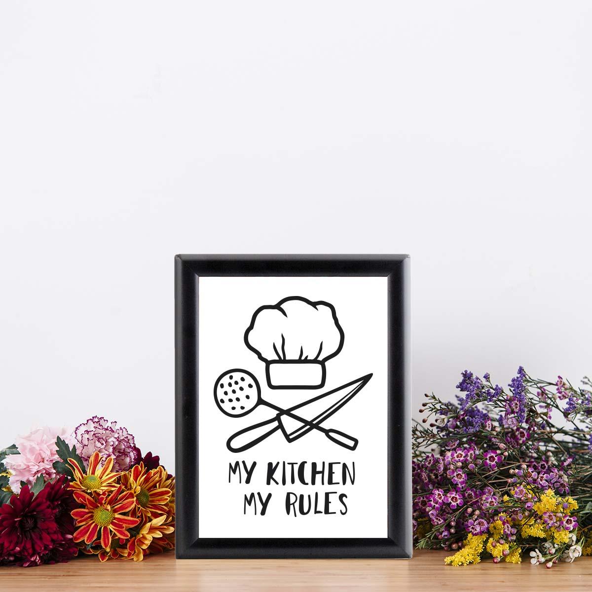 Dekoratif Mutfak Çerçeveleri